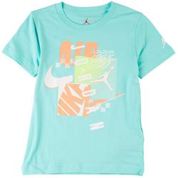 Jordan Little Boys Mash Up Logo Graphic T-Shirt