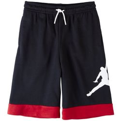 Jordan Big Boys Jumpman Logo Stripe Trim Shorts