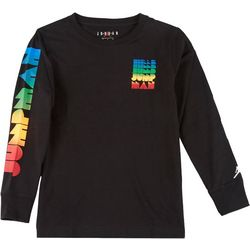 Jordan Big Boys Jumpman Deco Fade Long Sleeve T-Shirt