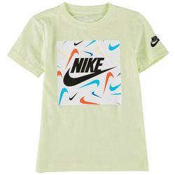 Nike Little Boys Swoosh Logo Block Print T-Shirt