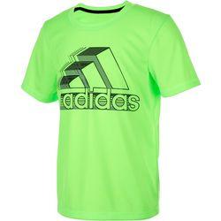 Adidas Big Boys Short Sleeve Graphic Logo T-Shirt