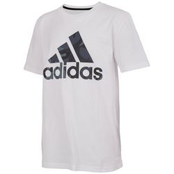 Adidas Big Boys Short Sleeve Camo Fill T-Shirt