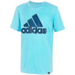 Adidas Big Boys Lenticular Badge Short Sleeve T-Shirt