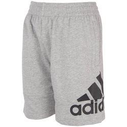 Adidas Big Boys French Terry Logo Shorts