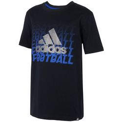 Adidas Big Boys Football Logo Short Sleeve T-Shirt