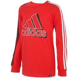 Adidas Little Boys 3-Stripe Logo Long Sleeve T-Shirt