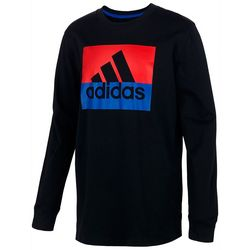 Adidas Big Boys Block Boss Long Sleeve T-Shirt