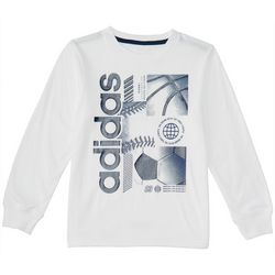 Adidas Little Boys Sports Graphic Long Sleeve T-Shirt
