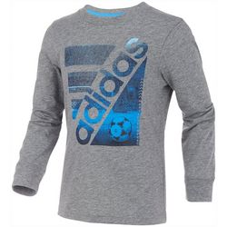 Adidas Little Boys Long Sleeve Soccer Court T-Shirt