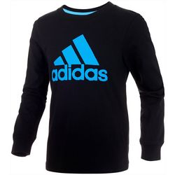 Adidas Little Boys Long Sleeve Solid BOS T-Shirt