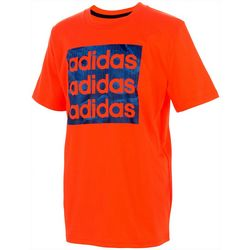 Adidas Big Boys  Short Sleeve Camo Logo T-Shirt