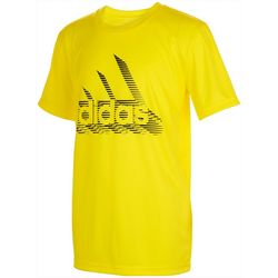 Adidas Big Boys Short Sleeve Speed Lines Graphic
