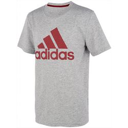Adidas Big Boys Short Sleeve Heathered Boss T-Shirt