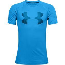 Under Armour Big Boys Tech Logo Promo T-Shirt