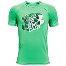 Big Boys Tech Glow Half Logo T-Shirt