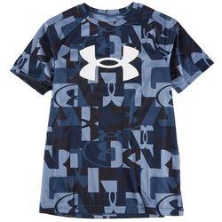 Under Armour Big Boys Tech Abstract Logo T-Shirt