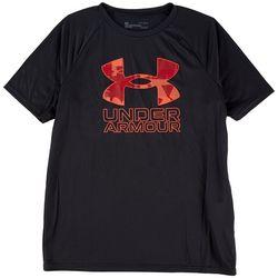 Under Armour Big Boys Solid Big Tech Logo T-Shirt