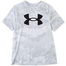 Under Armour Big Boys Tech Logo Camo T-Shirt