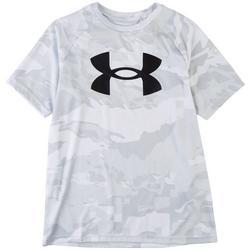 Big Boys Tech Logo Camo T-Shirt