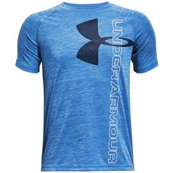 Under Armour Big Boys Space Dyed Tech Split Logo T-Shirt