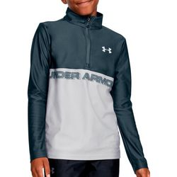 Big Boys UA Tech Half Zip Long Sleeve Top