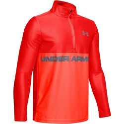Big Boys UA Tech Half Zip Long Sleeve Top