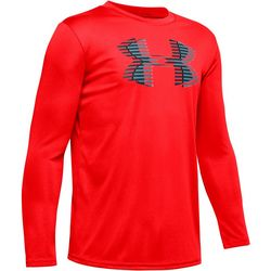Big Boys UA Tech Big Logo Long Sleeve T-Shirt