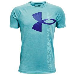 Under Armour Big Boys Space Dyed Tech Split Logo T-Shirt