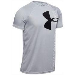 Big Boys Solid UA Tech Split Logo T-Shirt