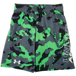 Little Boys Camo Logo Shorts