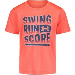 Little Boys Swing Run Score T-Shirt