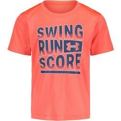 Little Boys Swing Run Score T-Shirt