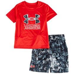 Little Boys 2-pc. Splash Logo Shorts Set