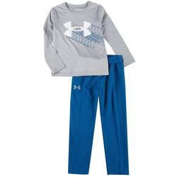Little Boys 2-pc. Rising Logo Pant Set