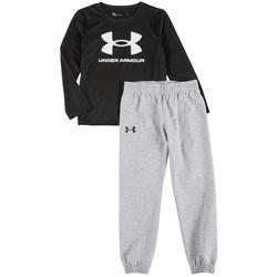 Little Boys 2-Pc. Jogger Pants Set