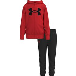 Little Boys Zip Up Fleece Hoodie Set
