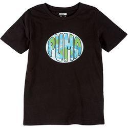 Puma Big Boys Earth Logo Short Sleeve T-Shirt