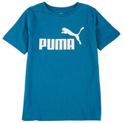 Puma Big Boys Logo Graphic Short Sleeve T-Shirt