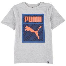 Puma Big Boys Pack Box Logo Short Sleeve T-Shirt