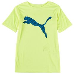 Puma Big Boys Revolve Interlock Logo Short Sleeve T-Shirt