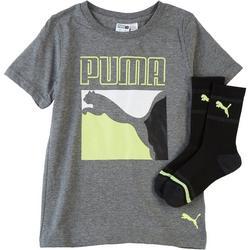 Little Boys 2-pc. Colorblocked Graphic T-Shirt & Socks