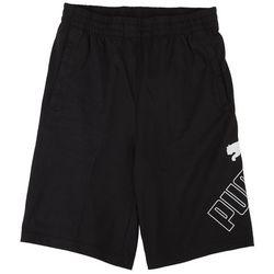 Puma Big Boys Jersey Logo Print Shorts