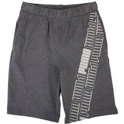 Puma Big Boys Jersey Logo Stripe Shorts