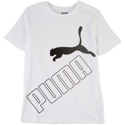 Puma Big Boys Logo Graphic Print Short Sleeve T-Shirt