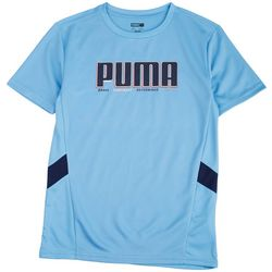 Puma Big Boys Logo Performance Short Sleeve T-Shirt