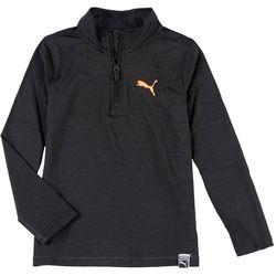 Puma Little Boys Solid Quarter Zip Pullover