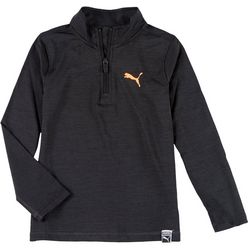 Little Boys Solid Quarter Zip Pullover