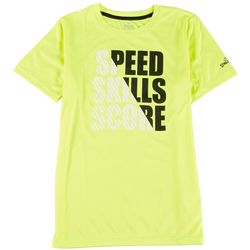Spalding Big Boys Speed Skills Score Short Sleeve T-Shirt