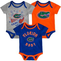 Florida Gators Baby Boys 3-pk. Logo Bodysuits