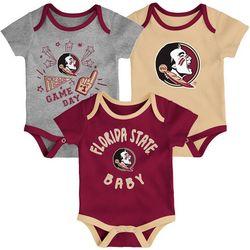 Florida State Baby Boys 3-pk. Logo Bodysuits